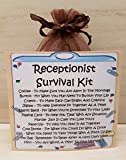 Receptionist Survival Kit - Unique Fun Novelty Gift & Card All In One