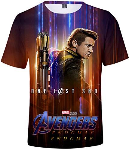 FLYCHEN Herren T-Shirt 3D Druck Avengers Endgame Revenge Series Summer Kurzarm(Hawkeye 3890,M)