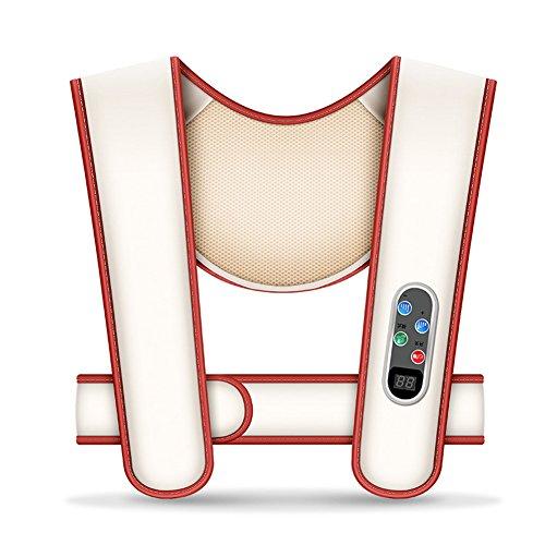 L.Atsain Shiatsu Masajeador Cervical Masajeador De Cuello Ajuste De 20 Velocidades Y Hombros Con Calor Y Terapia De Vibración Para El Dolor De Pies, Espalda, Cuello Y Hombros