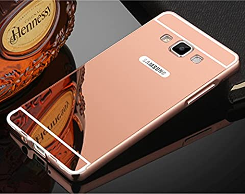 Coque Samsung Galaxy A3 Aluminium Miroir Coloris Rose Etui Housse