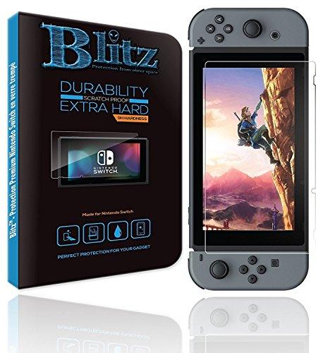 Nintendo Switch Protector de Pantalla Blitz⚡ | Protección Nintendo Switch Ultra resistente | Protección Switch Premium en vidrio templado con grado de dureza 9H HD 100% transparente