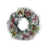 Bulary handgemachte Weihnachtskranz Festival Fichte Kranz simuliert Weihnachtsbaum Dekoration Hochzeit Feier Kranz