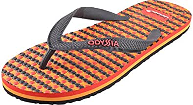 Odyssia Men's Multi Rubber Flip-Flops, UK 10