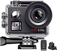 AKASO V50Elite 4K 60fps WiFi Action Camera Touch Screen Voice Control EIS 40m Underwater Waterproof Camera Adj