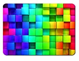 Mauspad Rainbow Blocks Design