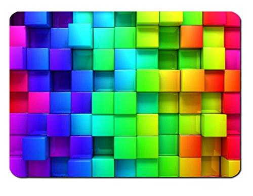 Mauspad Rainbow Blocks Design