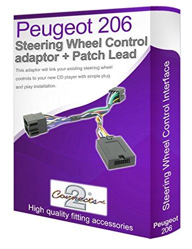 Connects2 - Cable adaptador para reproductor de audio de Peugeot 206 (conecta...