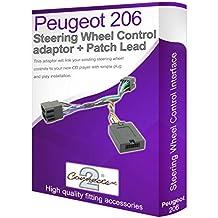 Connects2 - Cable adaptador para reproductor de audio de Peugeot 206 (conecta los controles del volante)