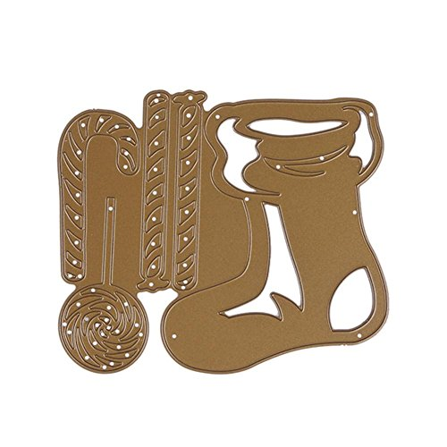 Gowind6 Weihnachtsstrümpfe Socken DIY Stanzform Metall Schablone für Scrapbook Craft