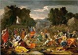 Posterlounge Forex-Platte 170 x 120 cm: Die Mannalese von Nicolas Poussin/akg-Images