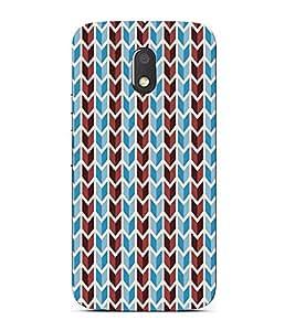 PrintVisa Butter Tea Chevron Art 3D Hard Polycarbonate Designer Back Case Cover for Motorola Moto E3 :: Motorola Moto E (3rd Gen)