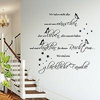 WANDTATTOO HM~AA201 Spruch Wir sind eine glückliche Familie Wanddekoration Wohnzimmer Flur Farbe./Größenauswahl