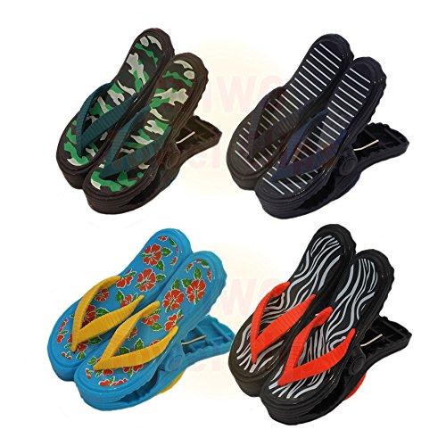 wiwo 4Paar Sandale Flip Flop Handtuch Clips-Eine der jeder