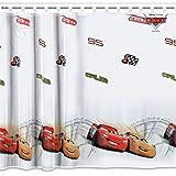 licence Dessin animé Rideau en voile avec Loops- voitures 2-150cm Largeur x 164cm de hauteur...