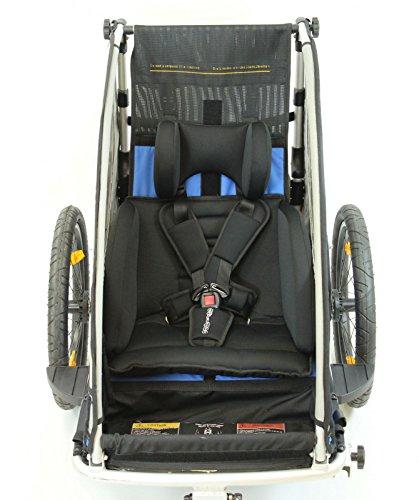 Sitzpolster Babysitz für Qeridoo Fahrradanhänger Sportrex 1 und Jumbo1 - 2