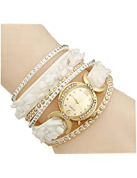 Aelo Fashion Bracelet Analogue Gold Dial Women's Watch - Www1050