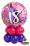 Wicked Wicked 18 - 60th SHINING STAR Birthday Balloon Table Decoration AIR ONLY Easy DIY PINK (18th)