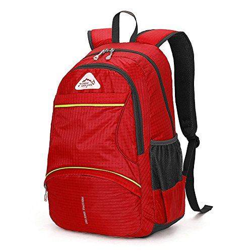 MJ Damen Bergsteigen Tasche / Outdoor Reise Rucksack / Reisen Bergsteigen Rucksack / Männer und Frauen Outdoor-Rucksack Red