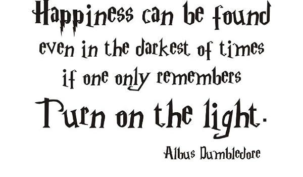 Harry Potter Wandaufkleber mit Zitat \