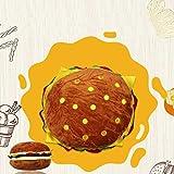 miju Cojín Felpa de Dibujos Animados Tiro Almohada, Niños Decorativos Simulación Hamburguesa Sofá Tiro Almohada Regalo de Juguete de Peluche Disfraz de Halloween