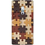 Snoogg Puzzler Designer Protective Back Case Cover For One Plus Two