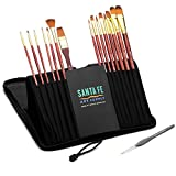 65% OFF DEAL TODAY! Santa Fe Art Supply Best Quality Artist Paintbrush Set. Acrylic Oil Watercolor & Face Paint. 15 (+1) Professional Paint Brushes In Travel Case. #1 Best Seller. Lifetime Guarantee. by Santa Fe Art Supply