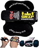 Lifting Grips by GRIP POWER PADS®PRO -The Alternative To Gym Workout Gloves | Maximize Your Workout Potential With Non Slip Grip Pad. Our Professional & ✔PATENTED ✔ Lifting Grips Consider To Be #1 Gym Gloves Alternative. You've Tried The Rest Now Own The BEST! Grips That Fit Your Needs. No More Calluses & Grip Fatigue - Secure Your Grip! Made for Men and Women For Weight Lifting Exercise Cross Training &Workout. (BLACK)