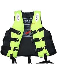 Highdas Adulto Kayak esquí acuáticos Vela Impacto Chaleco salvavidas PFD alta flotabilidad flotador de la ayuda salvavidas Tama?o L-3XL