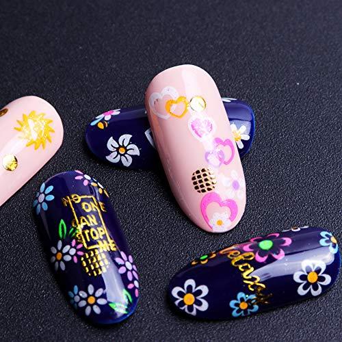 LLMTF 24 Piezas Colores Fluorescentes uñas Pegatinas