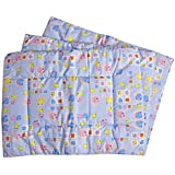 Baby Station Premium Quality Multi Purpose Changeable Mat, Set Of 3 (Blue Cartoon Face)