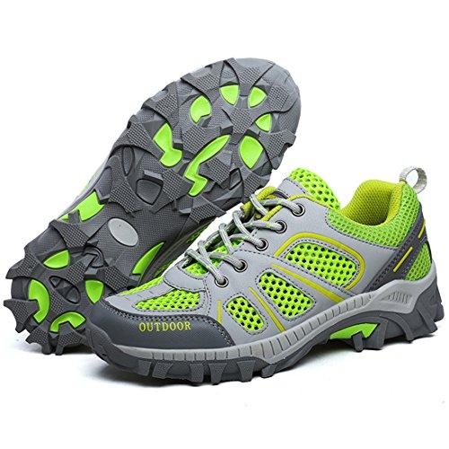 BOLOG Camping Outdoor Herren Damen Sommer Trekking & Wanderstiefel Schuhe Wasserdicht Grün
