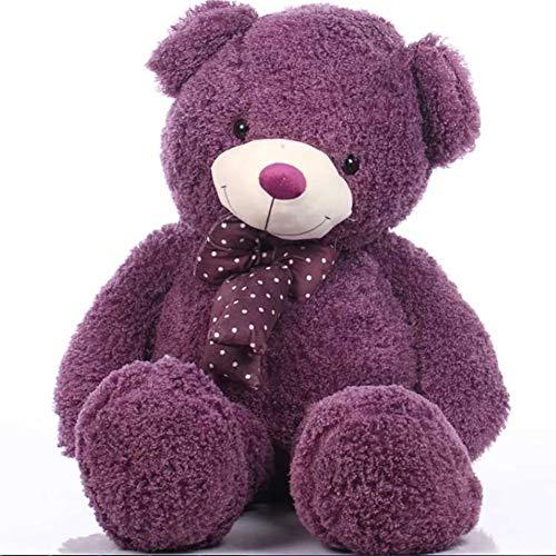 VERCART Bonbonfarben Lavendel Modisch Riesen Teddybär Größe 160cm mit Bogen Krawatte - Teddy Valentines Bär Riesen