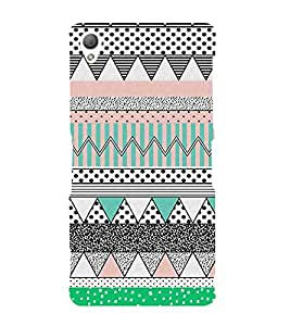 Fiobs Designer Back Case Cover for Sony Xperia Z3 :: Sony Xperia Z3 Dual D6603 :: Sony Xperia Z3 D6633 (Snakes Colorful Design Pattern Triangles)