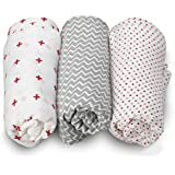 LuvLap 100% Cotton Muslin Baby Swaddles - Red Dots Print 0+ Month