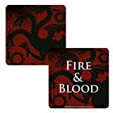 Game Of Thrones Untersetzer Targaryen House Sigil Fire & Blood offiziell