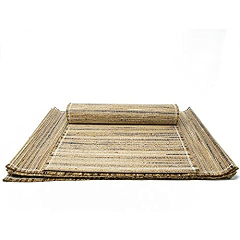 Handloom Woven Natural Eco Friendly Placemat Set Of 6 Banana Bark And Jute Table Mat 13 X 19 Inch For Kitchen Dining Home Decor-With A Cotton