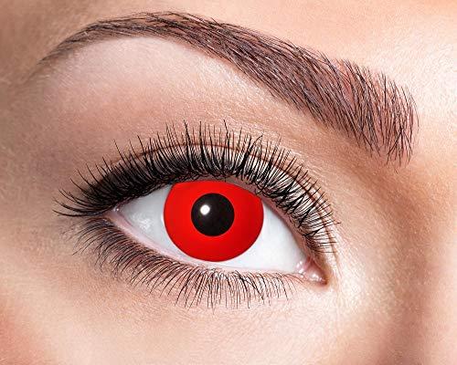 (Eyecatcher Motivlinsen – Red Devil 597-3,0 Dioptrien - farbige Jahreslinsen Kontaktlinsen)