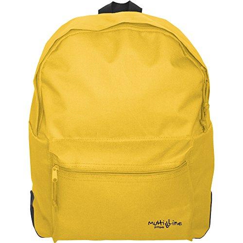 Mochila escolar amarilla para niñas y niños