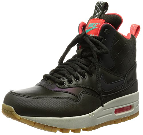 Nike W Air Max 1 Mid Snkrbt Rflct, Chaussures Femme Sequoia/Noir-Brght Crmsn-Mnt