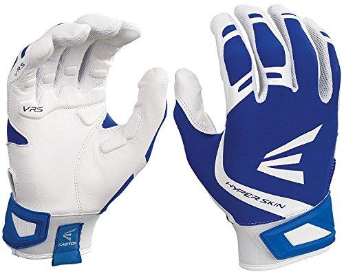 Easton ZF7VRS hyperskin Fastpitch Batting Handschuhe, Herren, Easton Zf7vrs Fastpitch Batting Glove Wh/Ry M, Weiß / Königsblau