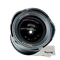 7artans - Lente de gran angular de 12 mm F2.8 para cámara Fujifilm X sin...