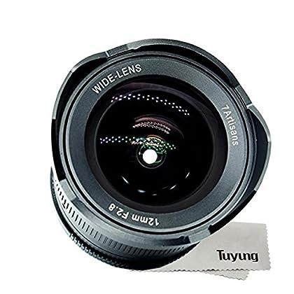 7artans - Lente de gran angular de 12 mm F2.8 para cámara Fujifilm X sin espejo - Kit de limpieza manual Focus Prime Fixed Lens y TUYUNG