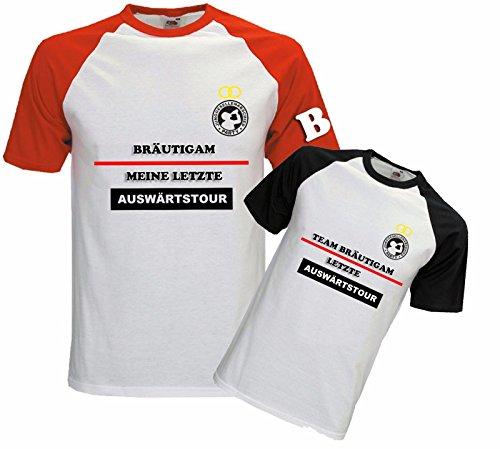 Blickfang Herren T-Shirt | JGA Shirt | Shirt | Sprücheshirt | Junggesellenabschied T-Shirt | Letzte Auswärtstour | Bräutigam | Team Bräutigam |Farben Individuell | Größe S-XXL (XXL, Team Bräutigam)
