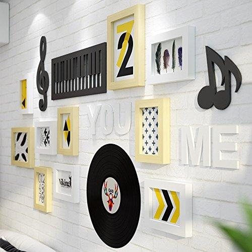 Global 10 Multi Bilderrahmen Set Modern Einfachheit Stil Holz DIY Foto Bilderrahmen Moderne Große Wandbehang Bilderrahmen Wand Set Treppenhaus Malerei, 128 X 69cm ( Farbe : #B )