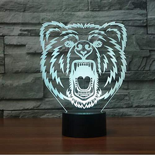 3D LED Visual Lamp Interruptor remoto 7 colores LED Dormitorio Librería 3D Night Light Decoración para el hogar Regalo creativo han-10440