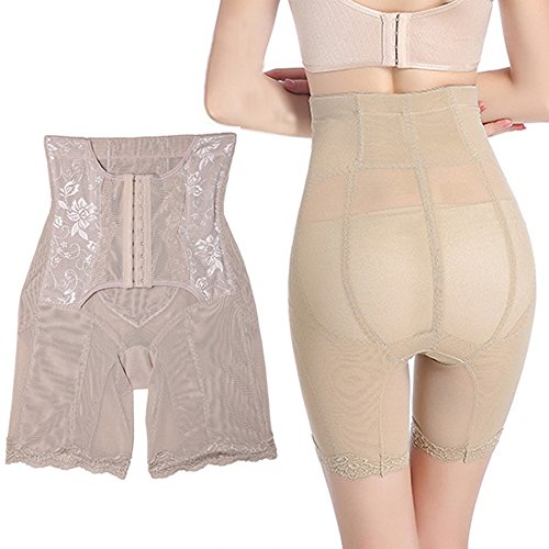Lover-Beauty Shapewear Damen Body Miederhose Bauch Weg Bodysuit mit Haken Taillenformer Figurformender Hautfarben 1