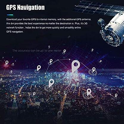 DashcamArmaturenbrett-Cam-203-cm-1080P-4G-GPS-Navi-Dual-Objektiv-WiFi-BT-Android-51-DVR-Kamera