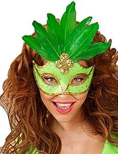 WIDMANN Generique-Lobo verde con plumas mujer