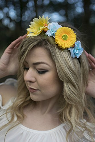 Bleu Jaune Tournesol rose cheveux fleur couronne bandeau Guirlande Festival Boho w55 * * * * * * * * exclusivement vendu par – Beauté * * * * * * * *