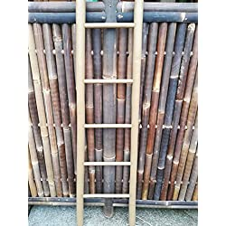 Colour verde y escalera de madera de bambú de madera de bambú de escalera toallero de 200 cm x 50/36 cm